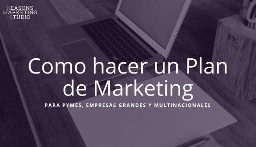 Ordenador de fondo para diseñar un plan de marketing